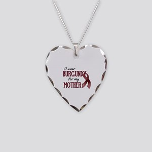 Wear Burgundy - Mother Necklace Heart Charm