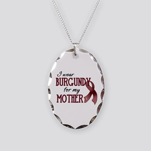 Wear Burgundy - Mother Necklace Oval Charm
