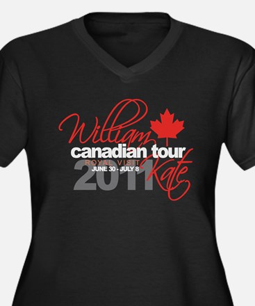 Will & Kate Canadian Visit Women's Plus Size V-Nec