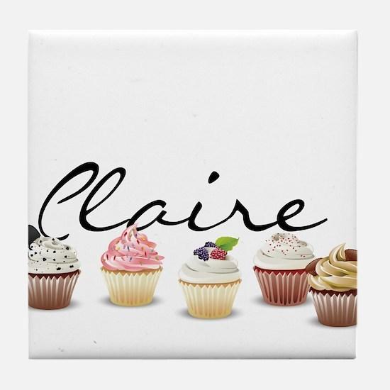 Cupcake Claire Tile Coaster