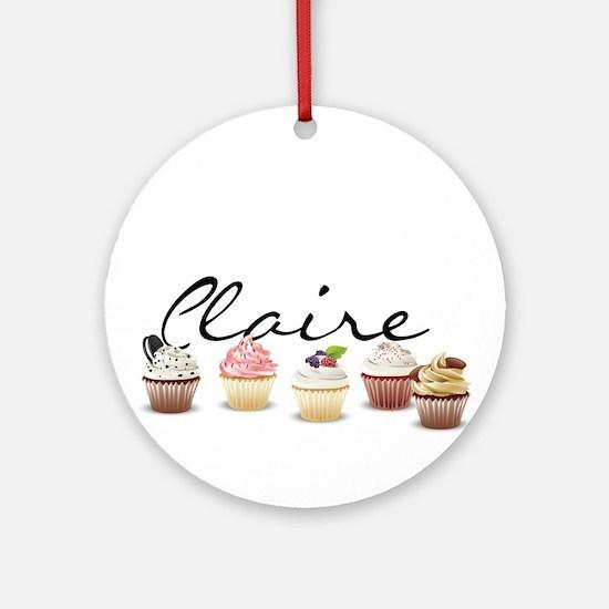 Cupcake Claire Ornament (Round)