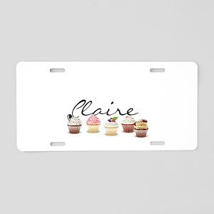 Cupcake Claire Aluminum License Plate