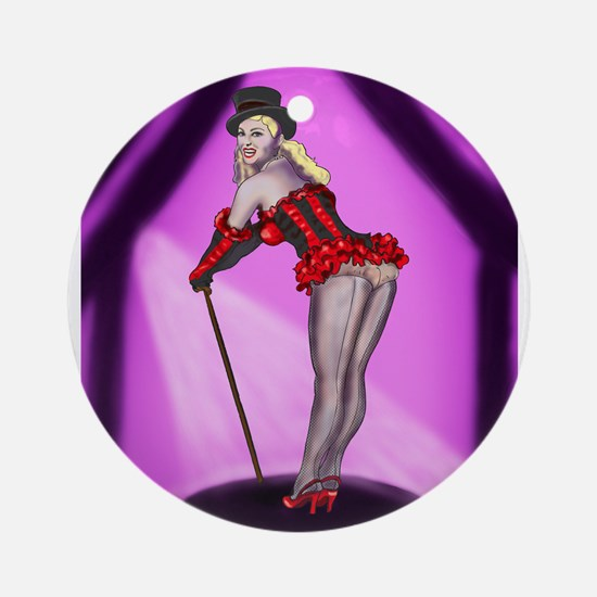 Mistress of Ceremony Showgirl Ornament (Round)