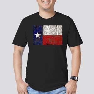 Texas Retro State Flag Men's Fitted T-Shirt (dark)
