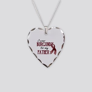 Wear Burgundy - Father Necklace Heart Charm