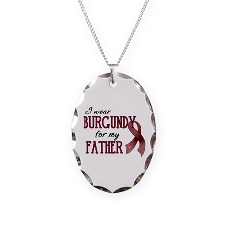 Wear Burgundy - Father Necklace Oval Charm