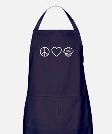 Peace, Love & Vegan Cupcakes Apron (dark)
