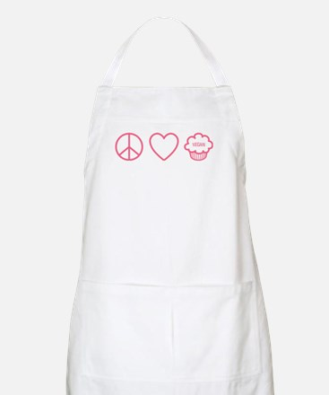 Peace, Love & Vegan Cupcakes Apron