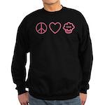 Peace, Love & Vegan Cupcakes Sweatshirt (dark)