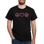 Peace, Love & Vegan Cupcakes Dark T-Shirt