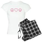 Peace, Love & Vegan Cupcakes Women's Light Pajamas