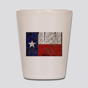 Texas Retro State Flag Shot Glass