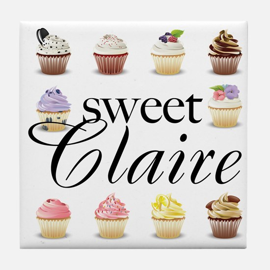 Sweet Claire Tile Coaster
