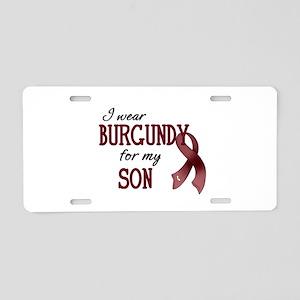 Wear Burgundy - Son Aluminum License Plate