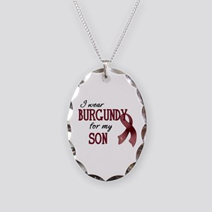 Wear Burgundy - Son Necklace Oval Charm