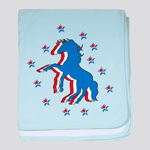 USA Horse baby blanket