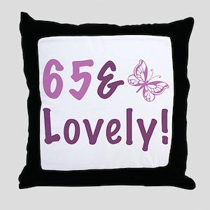 65 & Lovely Throw Pillow