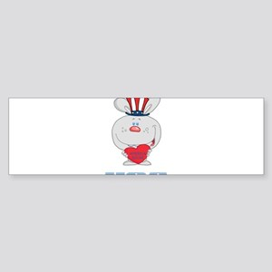 Patriotic Bunny Sticker (Bumper)
