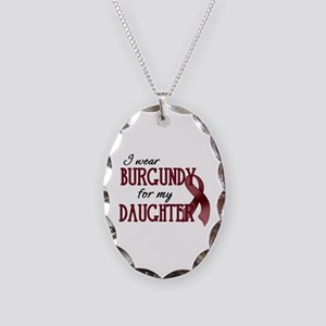 Wear Burgundy - Daughter Necklace Oval Charm
