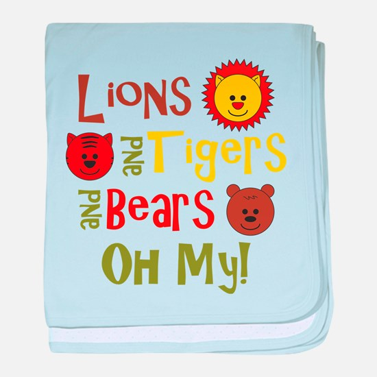Lions & Tigers & Bears! Oh My baby blanket