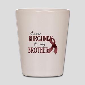 Wear Burgundy - Brother Shot Glass