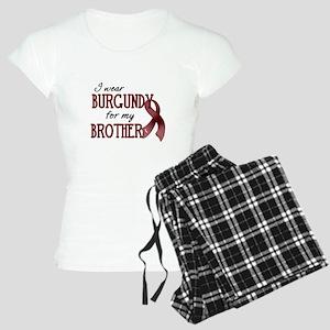 Wear Burgundy - Brother Women's Light Pajamas