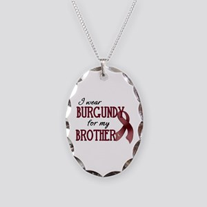 Wear Burgundy - Brother Necklace Oval Charm