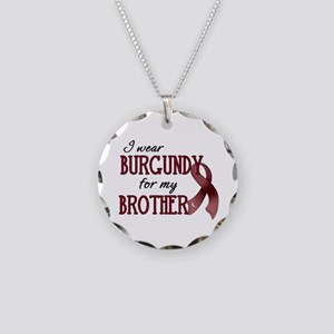 Wear Burgundy - Brother Necklace Circle Charm