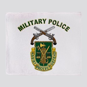 US Army Military Police Crest Throw Blanket