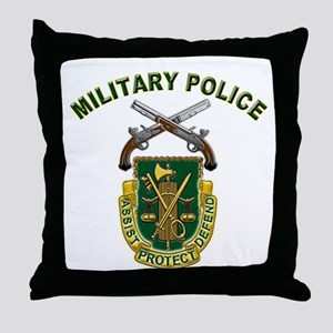 US Army Military Police Crest Throw Pillow