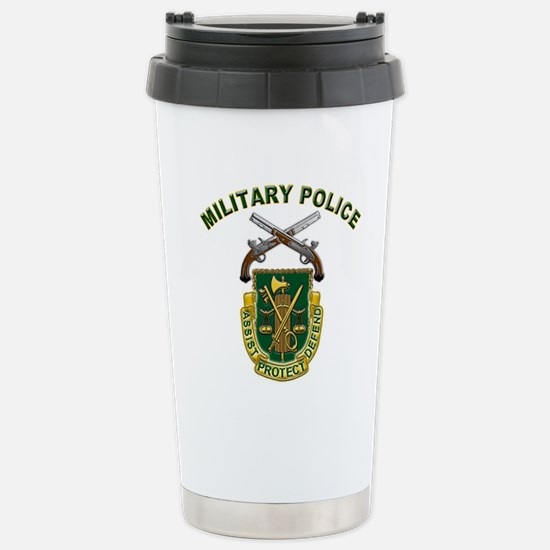 US Army Military Police Crest Stainless Steel Trav