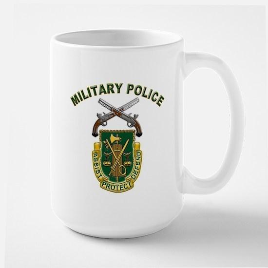 US Army Military Police Crest Large Mug