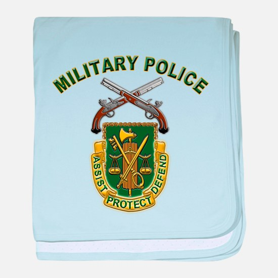 US Army Military Police Crest baby blanket