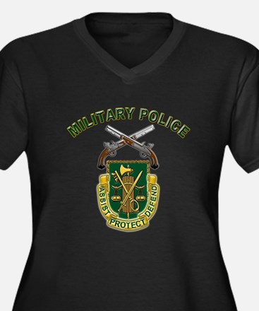 US Army Military Police Crest Women's Plus Size V-