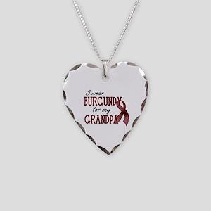 Wear Burgundy - Grandpa Necklace Heart Charm