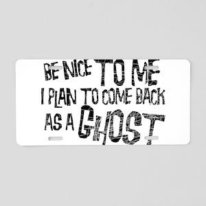Ghosts Aluminum License Plate