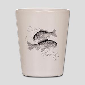 Gone Fishin' Shot Glass