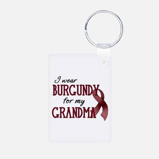 Wear Burgundy - Grandma Aluminum Photo Keychain
