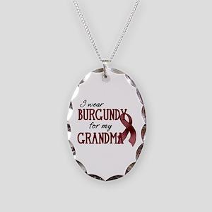 Wear Burgundy - Grandma Necklace Oval Charm