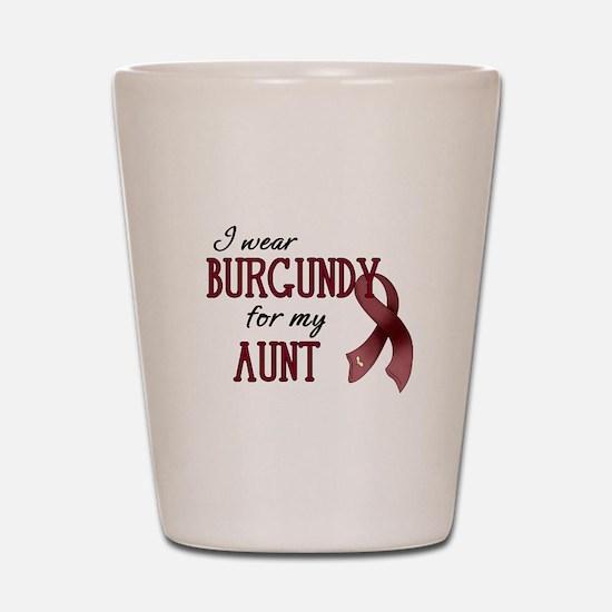Wear Burgundy - Aunt Shot Glass