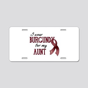 Wear Burgundy - Aunt Aluminum License Plate