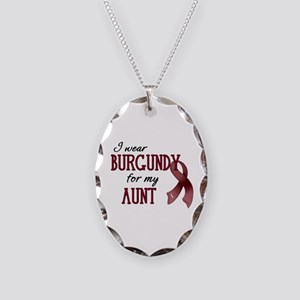 Wear Burgundy - Aunt Necklace Oval Charm