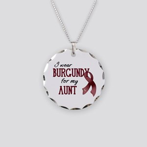 Wear Burgundy - Aunt Necklace Circle Charm
