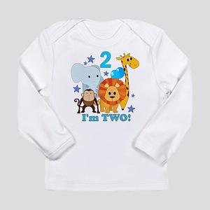 2nd Birthday Jungle Long Sleeve Infant T-Shirt