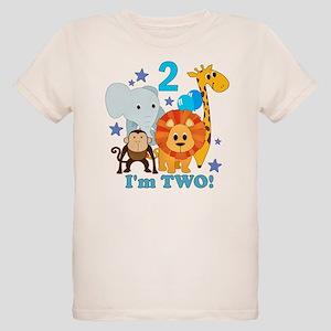 2nd Birthday Jungle Organic Kids T Shirt