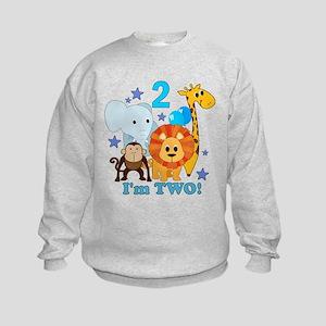 2nd Birthday Jungle Kids Sweatshirt