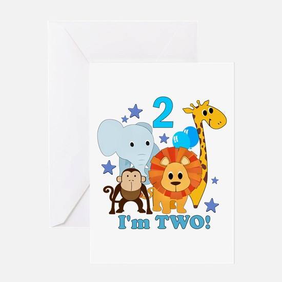 2nd Birthday Jungle Greeting Card