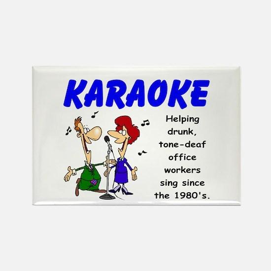 Karaoke Rectangle Magnet