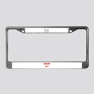 Snooze Button License Plate Frame