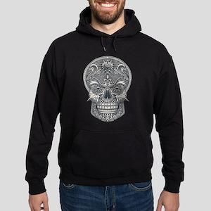 Deadly Love Skull Hoodie (dark)
